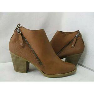DV Dolce Vita Brown Tan Ankle Boots